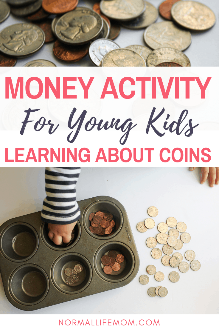 Money activity for kids learning about coins and money #moneyactivity #toddleractiviity #preschoolactivity #handsonmoneyactivity #preschoolmoneyactivity #coins #learningaboutcoins