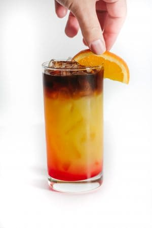 Halloween Cocktail perfectly layered with beautiful halloween colors