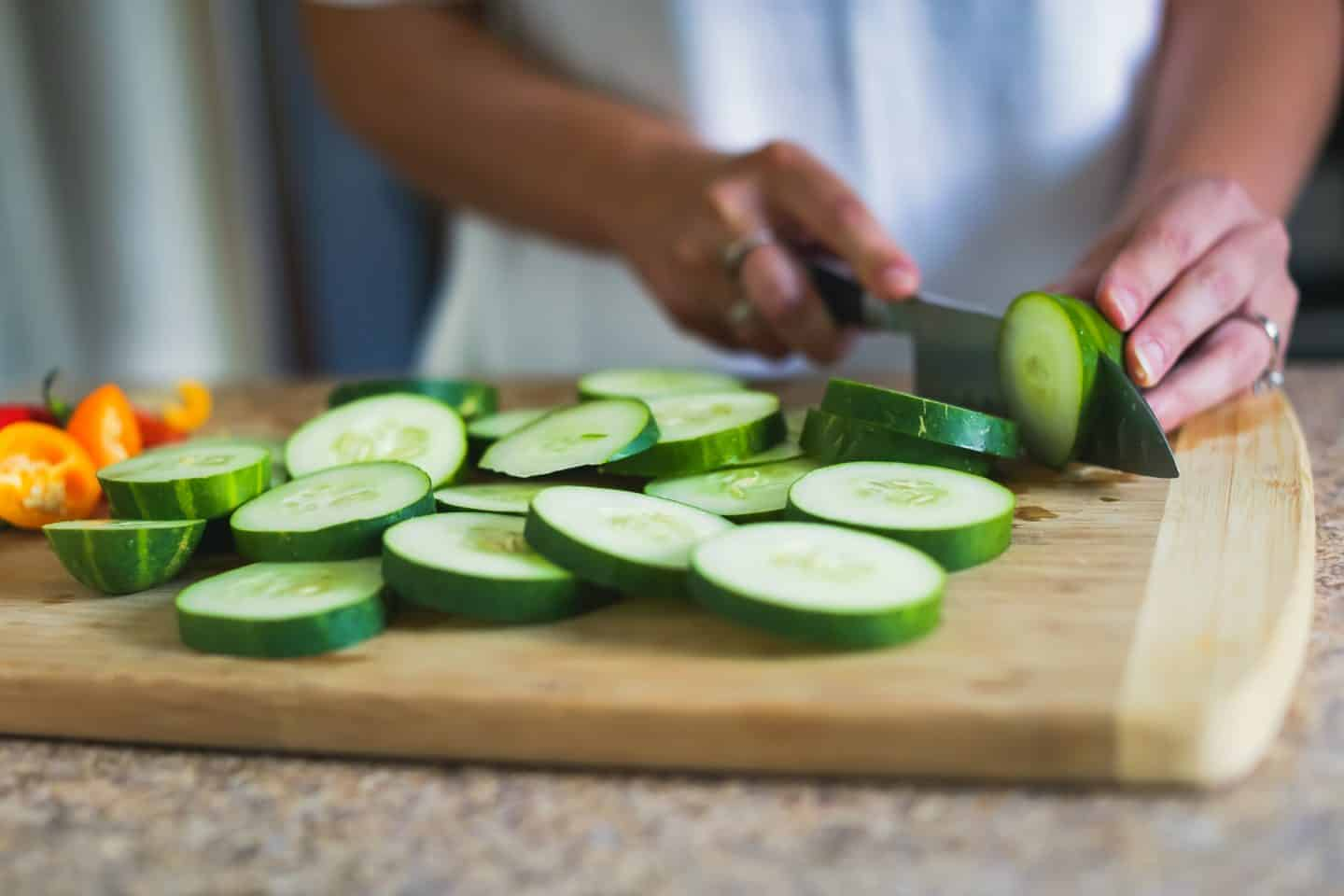 Food Blog Chopping Cucumbers
