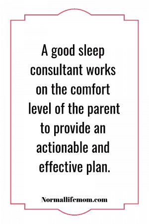 working with a sleep consultant for baby naps
