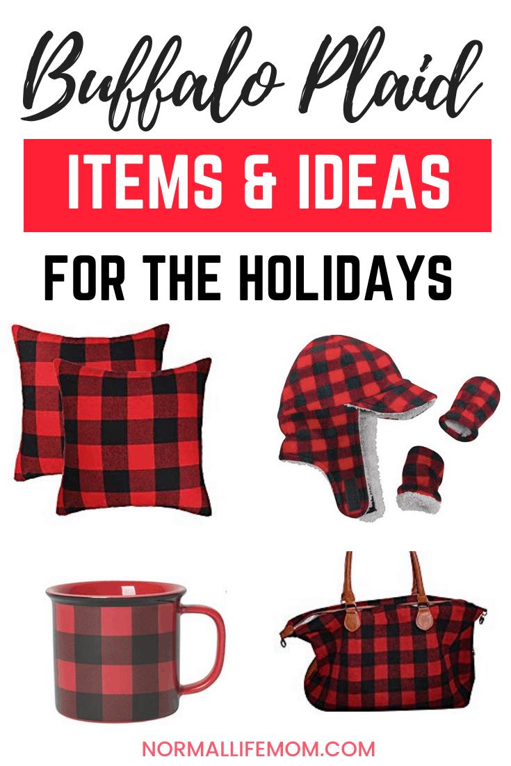Buffalo plaid Christmas ideas and matching items to wear during the holiday season. Red and white checked buffalo plaid #buffaloplaid #matchingchristmas #buffaloplaidoutfitideas #prettychristmasoutfits #christmasideas #christmasgifts