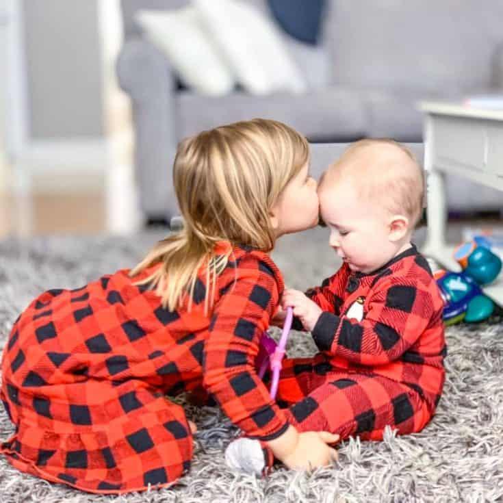 matching buffalo plaid pajamas