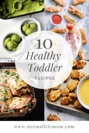 10 Healthier toddler recipes. Toddler food ideas not too far away from their favorite meals #toddlerfood #healthytoddlerfood