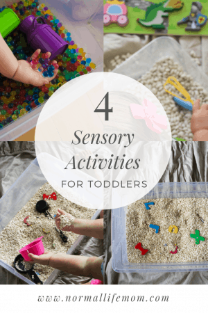4 fun activities for toddlers. Indoor play using a sensory box