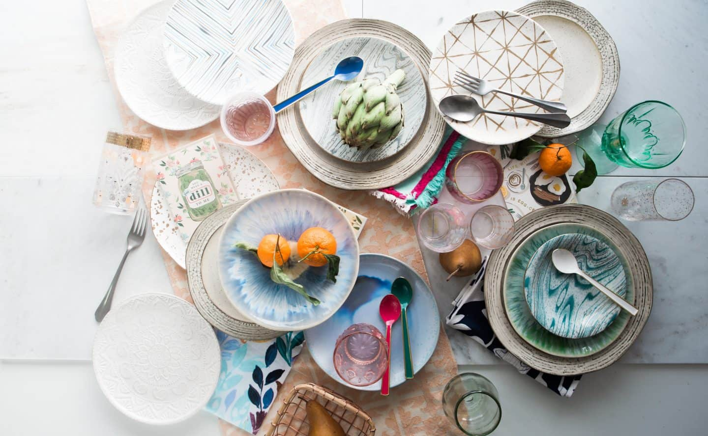 Kitchen plates, bowls and accessories with the perfect pop of color are a wonderful and unique gift idea fo moms who love to cook.