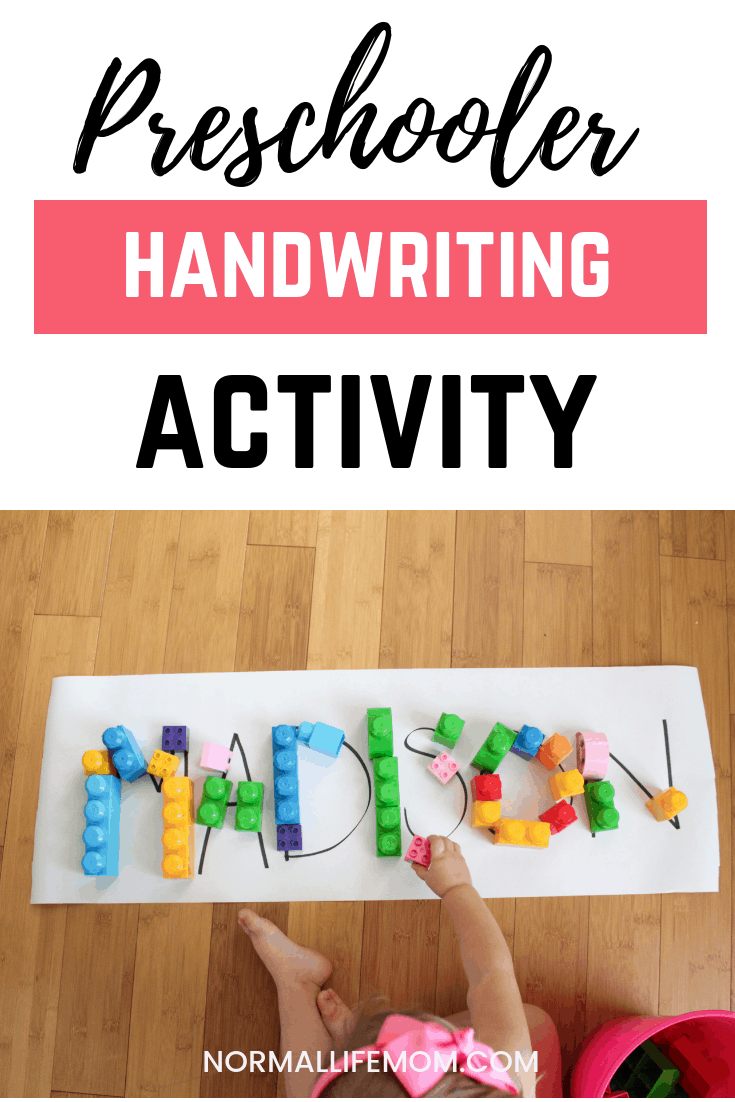 Fun play based learning activity for kids to learn about letter structure and shapes of letters to get them thinking about handwriting. Early handwriting practice that gets children thinking of letters in a different way. #handwriting #handwritingpractice #preschool #preschoolactivities #playbasedlearning #namewriting #indooractivity