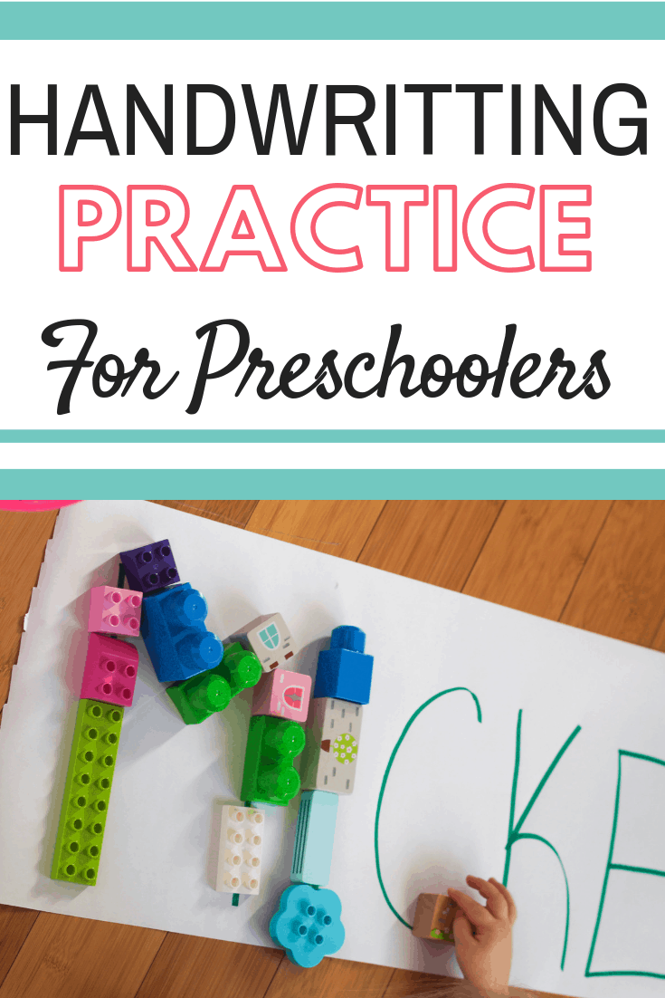 Practice handwriting with your preschool aged child in this fun play based learning activity. Encourage your child to learn letter structure and letter shape by practicing tracing the letters with objects they love #handwriting #handwritingpractice #preschoolhandwriting #playbasedlearning #playtime #preschoolactivity