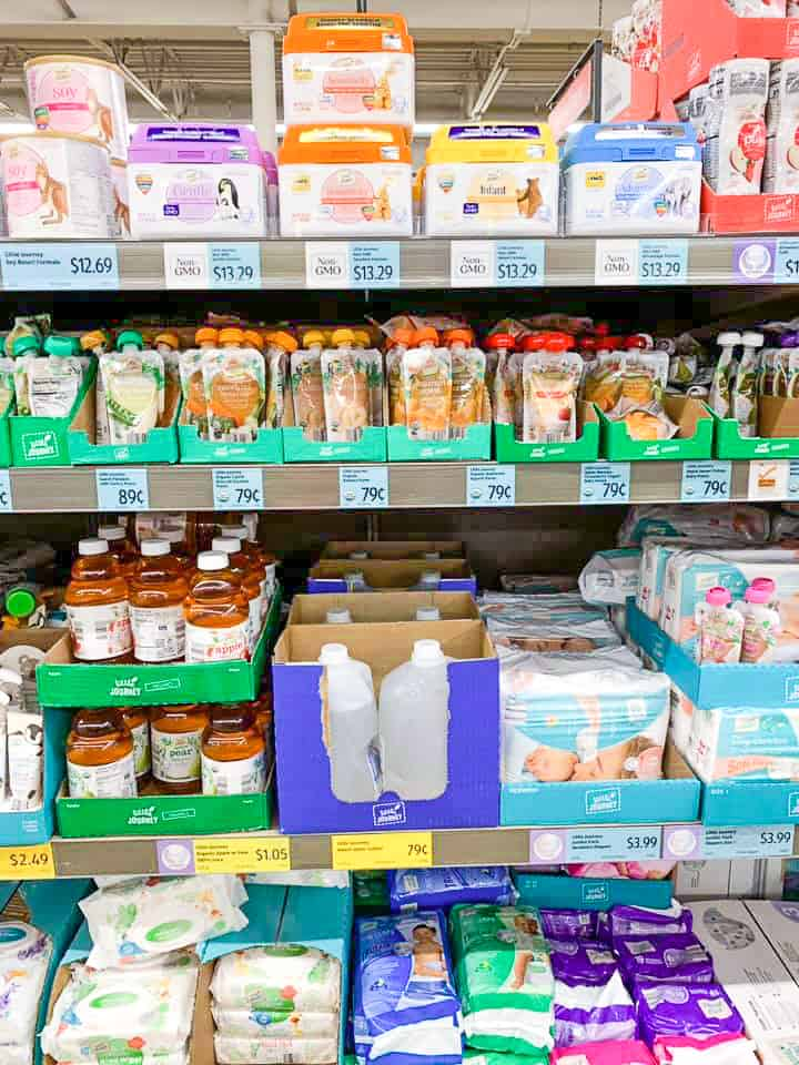 Aldi offers a huge selection of organic baby food, diapers, formula and nursery water. Aldi's baby products are half the cost of what you would pay in the supermarket #aldi #aldifinds #savingmoney #babyitems