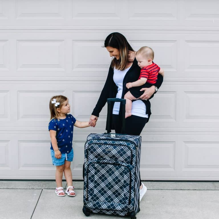 Wear comfy clothes on the plane. Great tip for traveling with kids