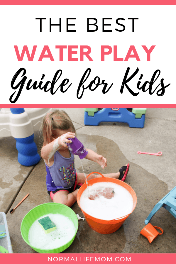 Water Play guide for kids. The ultimate guide for fun water play for your toddlers and preschool aged children #waterplay #summeractivities #watertables #sensoryactivities #sensoryplay #toddleractivities