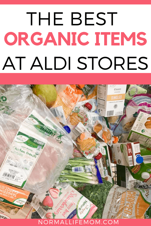 Shopping for organic food at Aldi is way cheaper than a traditional supermarket. These are the best organic items Aldi offers #savingmoney #organicfood #cleaneating #moneysavinghacks