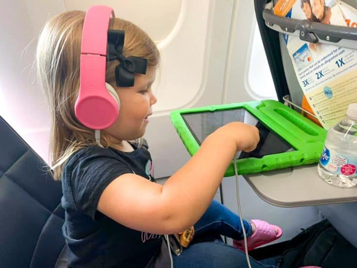 Traveling with kids on an airplane. Bring along iPad and download movies ahead of time.