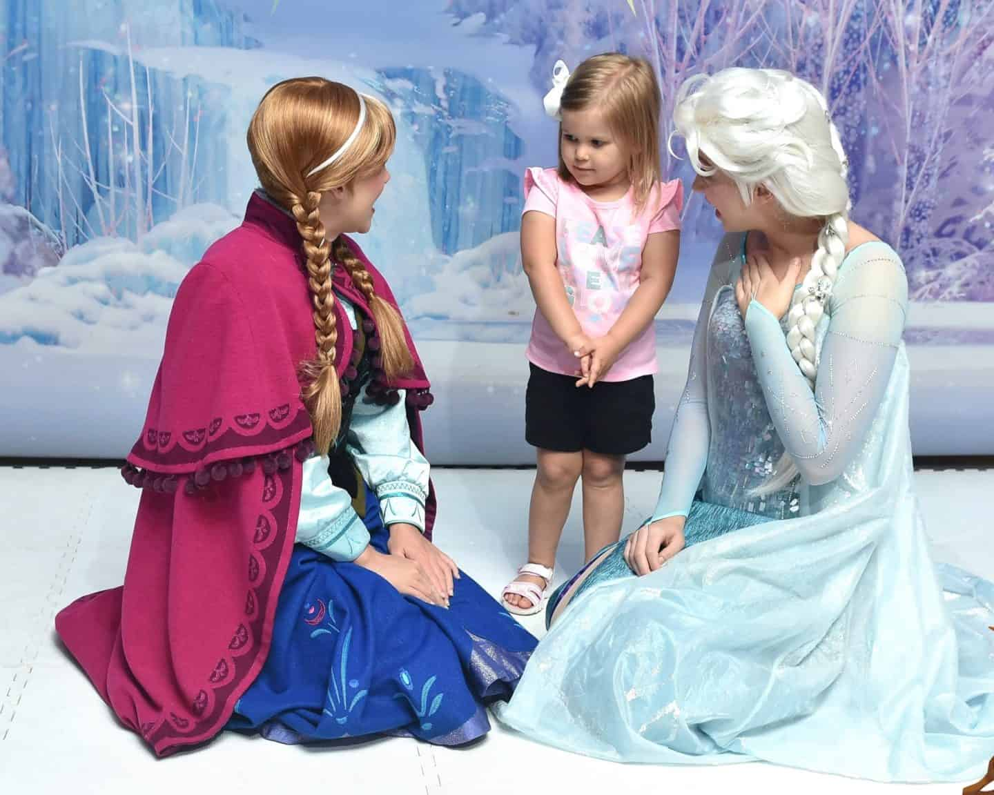 frozen meet and greet aboard the Disney cruise.