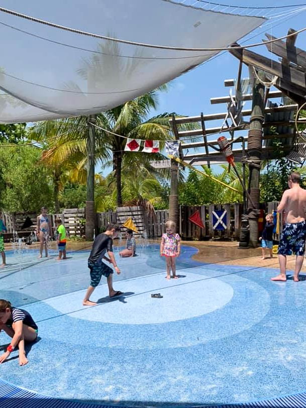 Splash pad at castaway cay