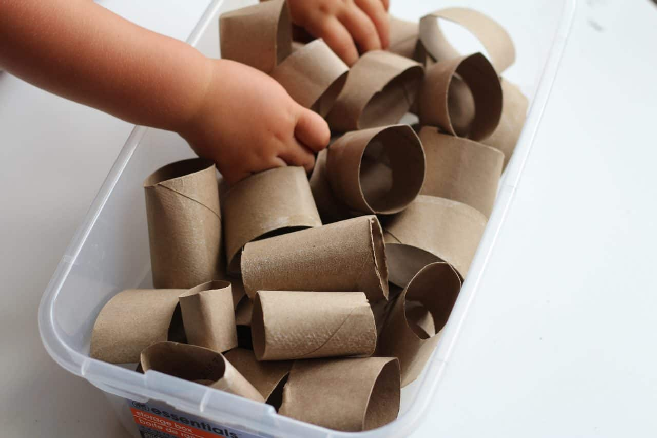 homemade stacking toy for baby