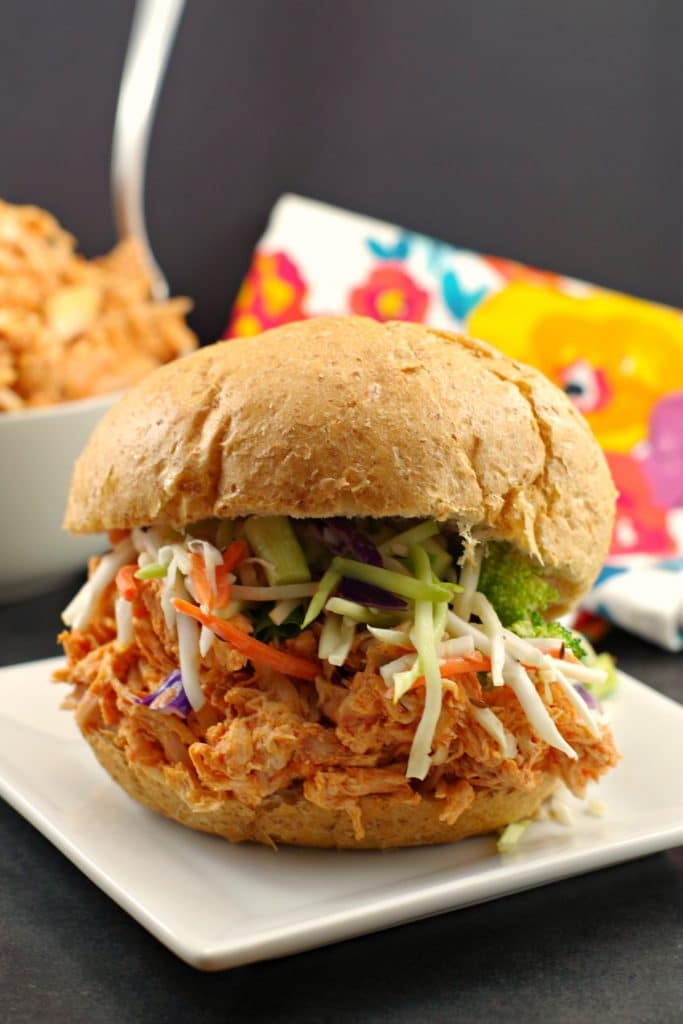 shredded buffalo chicken sandwich