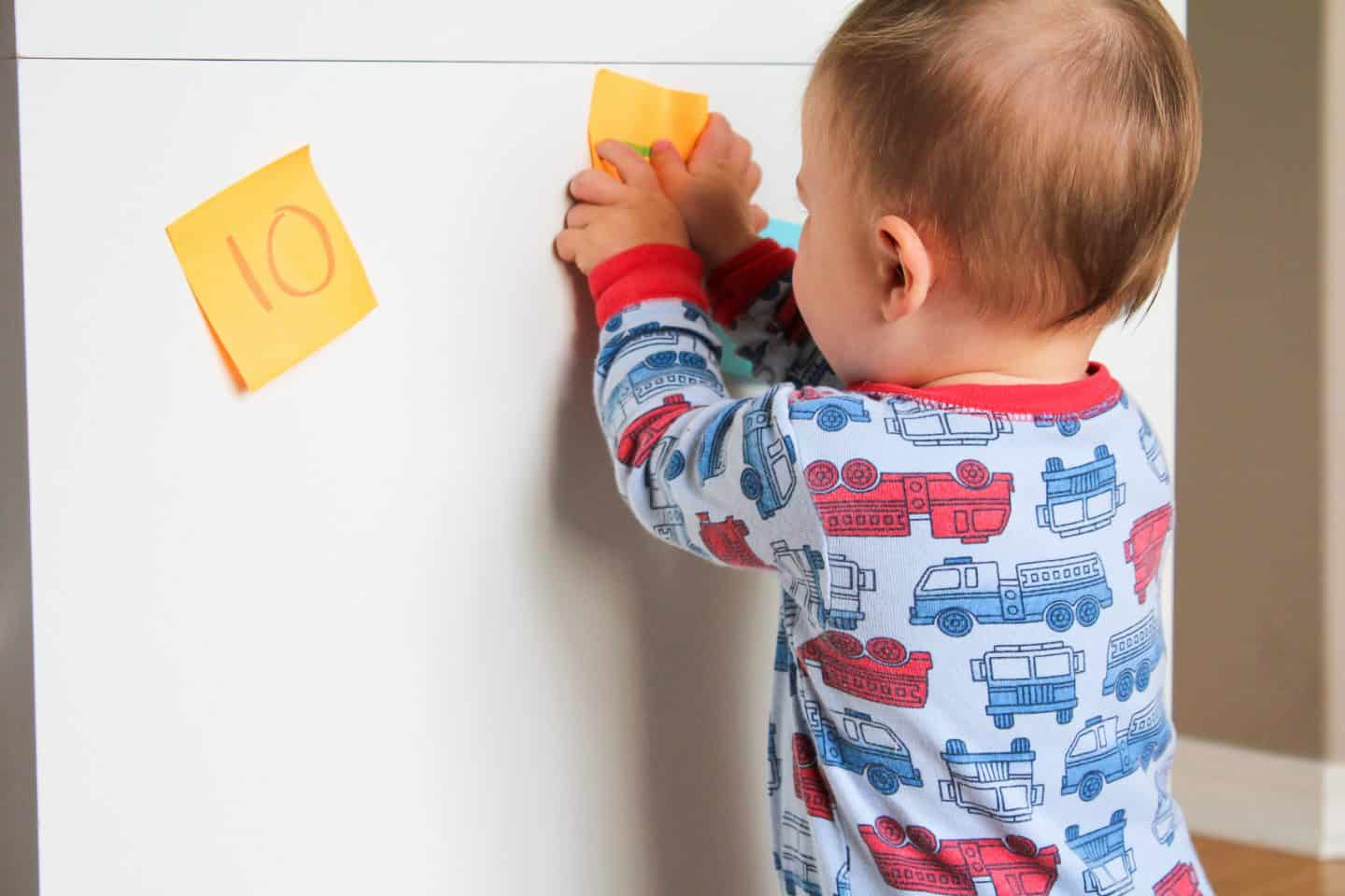post it note game for toddlers