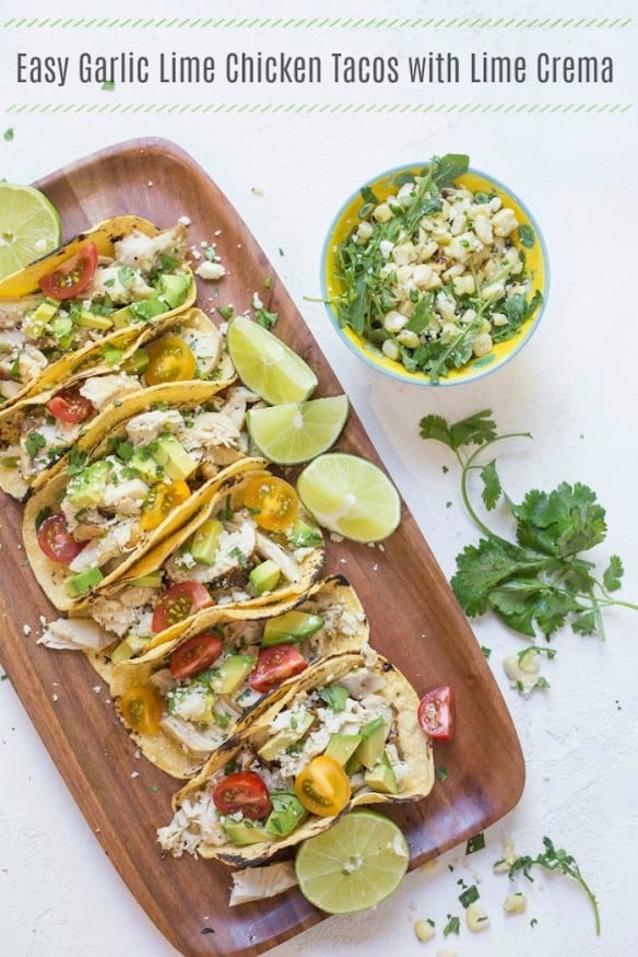 garlic lime chicken tacos