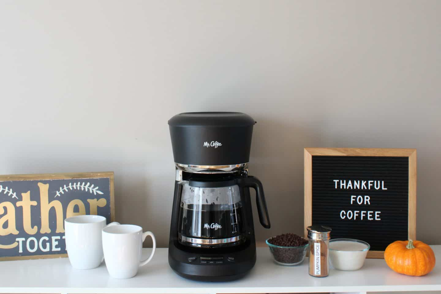 hosting holiday guests with a coffee bar