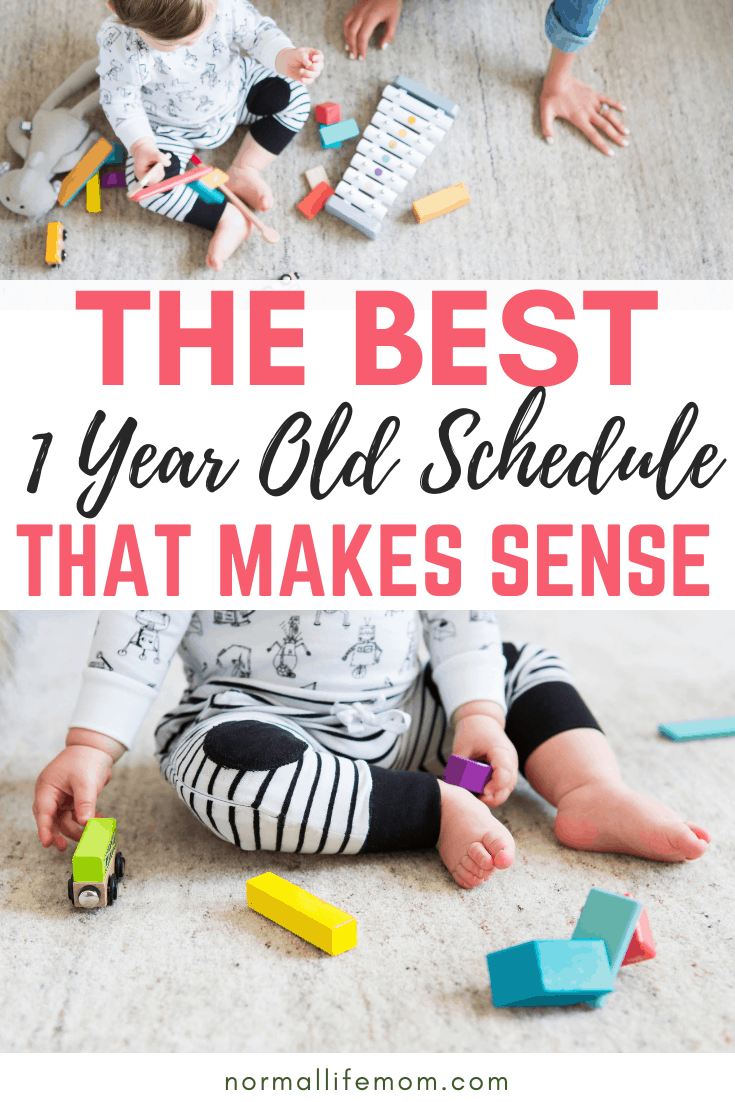 A 1 year old schedule that incorporates your 1 year old's play time, feeding time and sleep time. Easy to follow schedule for a baby who is taking two naps #babyfoodscheduledaily #babyschedule #1yearold #easybabyschedule #babymusthave #activitytoddlers #funfortoddlers #toddlerfood