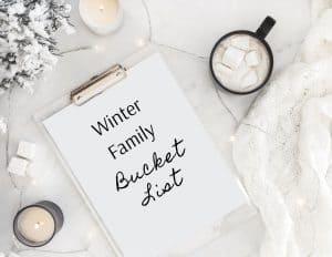 winter family bucket list
