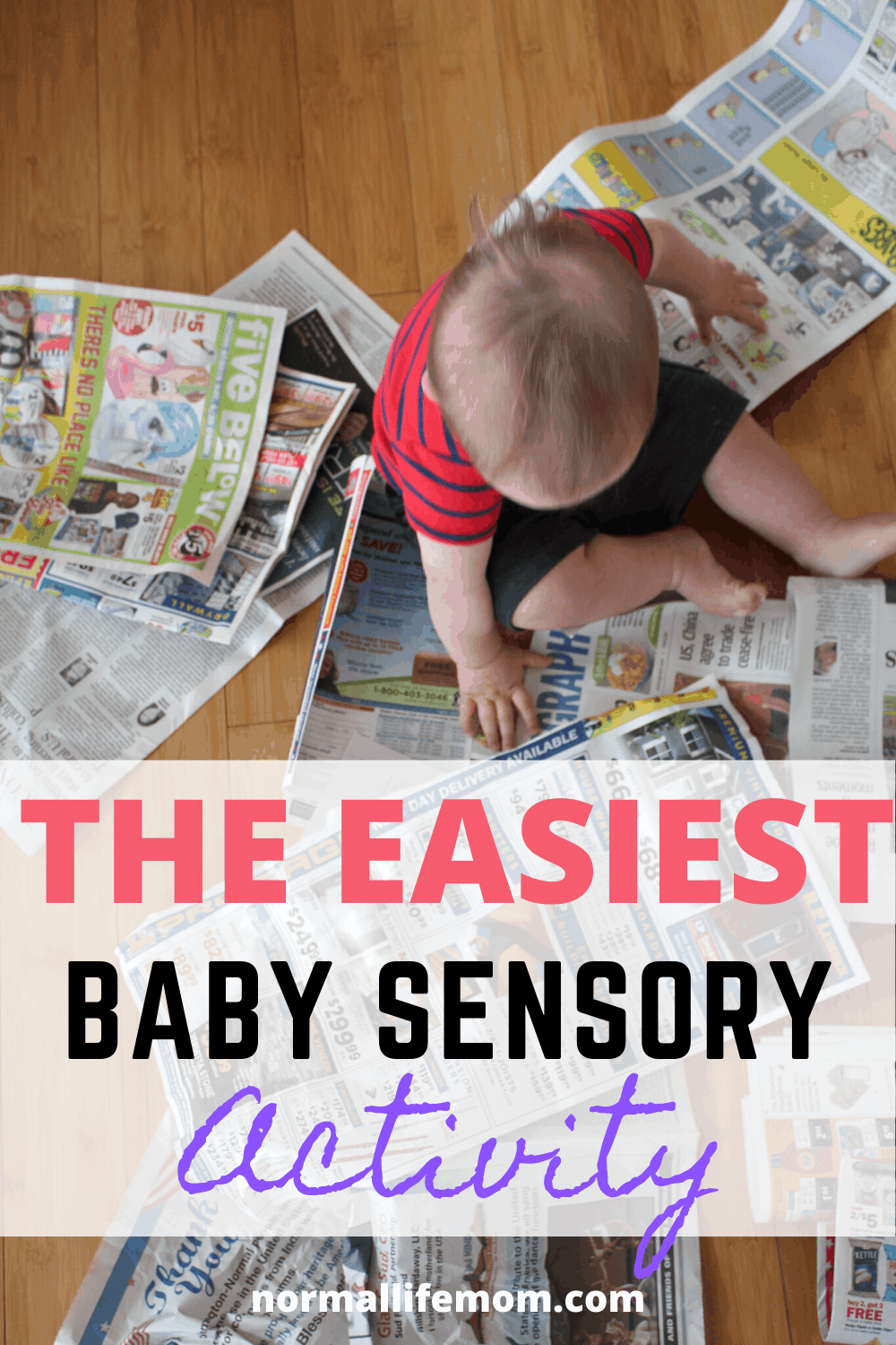 Easy baby sensory play! Set up this easy activity in no time and watch your child have endless fun #babysensoryplay #sensoryplay #sensoryactivities #babysensoryideas #sensoryplaybaby #babyactivities