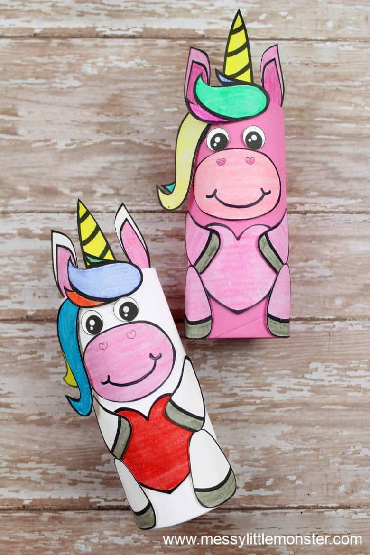 cardboard tube unicorn craft preschoolers