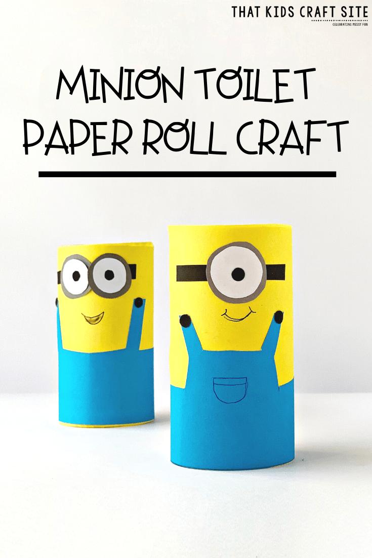 minion toilet paper craft