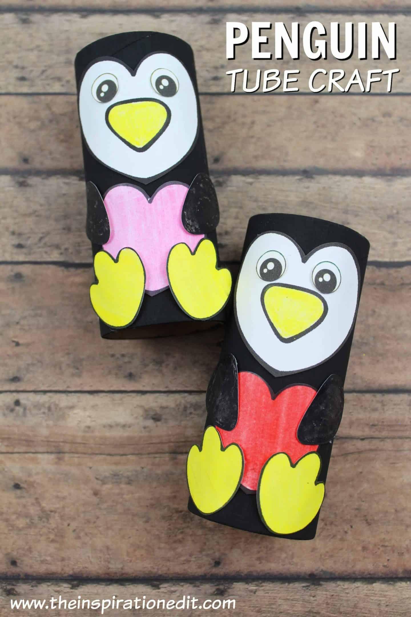 penguin toilet paper craft