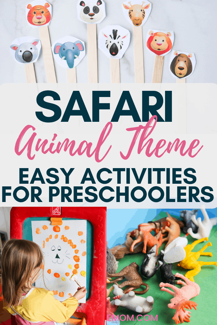 Safari Animal Activities For Preschoolers
