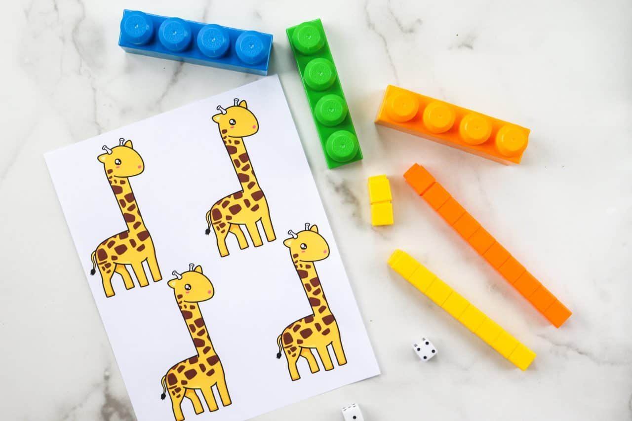 dice giraffe game