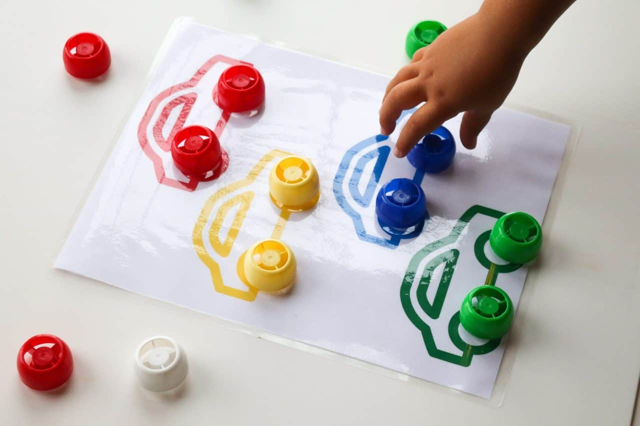 color matching activity printable
